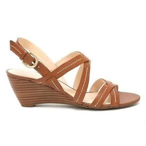 Franco Sarto // Wenny Brown Leather Wedges 10M